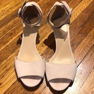 J Crew Size 7 Ankle strap suede sandal